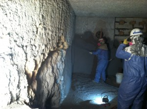 Refractory Field Services - Shotcrete repair aluminum furnace